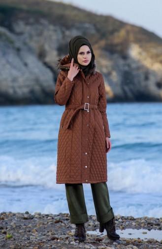 Tobacco Brown Long Coat 5043-01