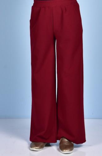 Pantalon Large avec Poches 5095-04 Bordeaux 5095-04