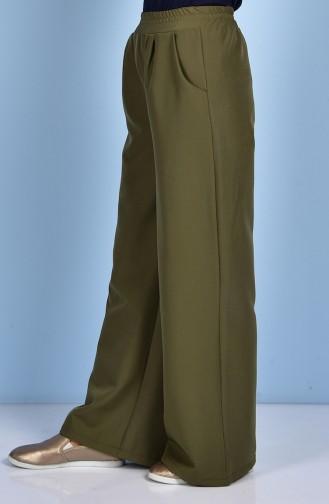 Pantalon Large avec Poches 5095-05 Vert Khaki 5095-05