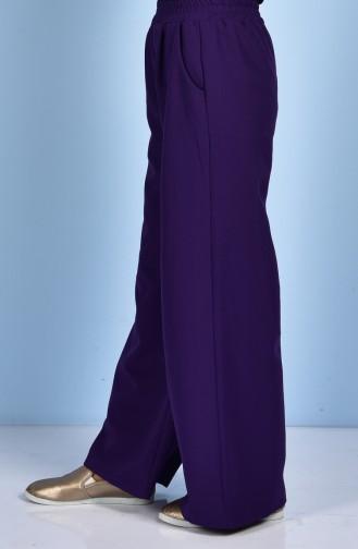Pantalon Large avec Poches 5095-03 Pourpre 5095-03