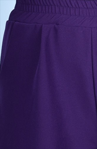 Weite Hose mit Taschen 5095-03 Lila 5095-03