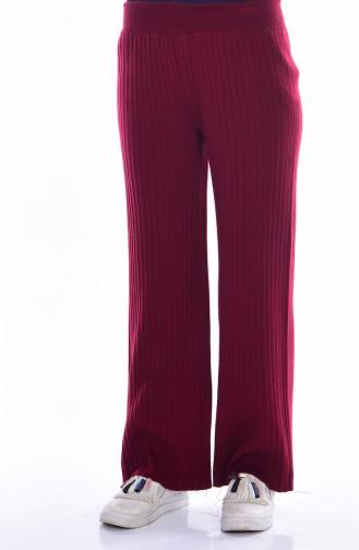 Pantalon Large Tricot 3988-02 Bordeaux 3988-02