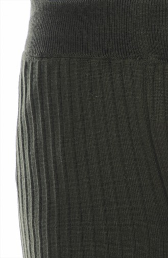 Pantalon Large Tricot 3988-06 Vert Khaki 3988-06