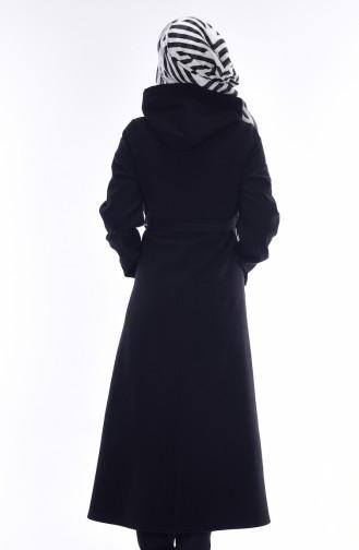 معطف طويل أسود 1009-01