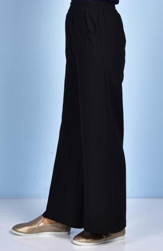 Pantalon Large avec Poches 5095-01 Noir 5095-01