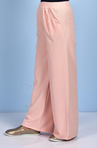 Pantalon Large avec Poches 5095-02 Saumon 5095-02
