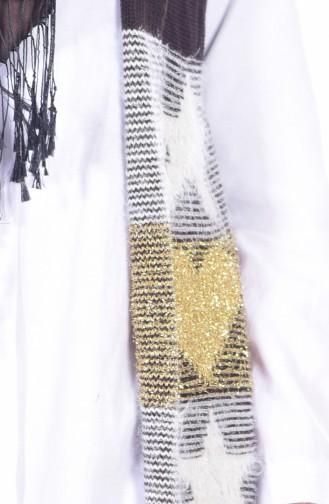 Glittered Knitwear Vest 1081-01 Brown 1081-01