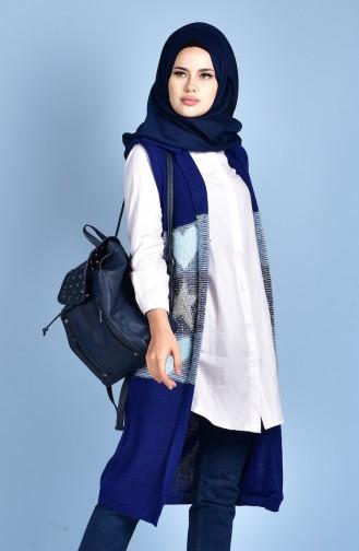 Glittered Knitwear Vest 1081-09 Saxon Blue 1081-09