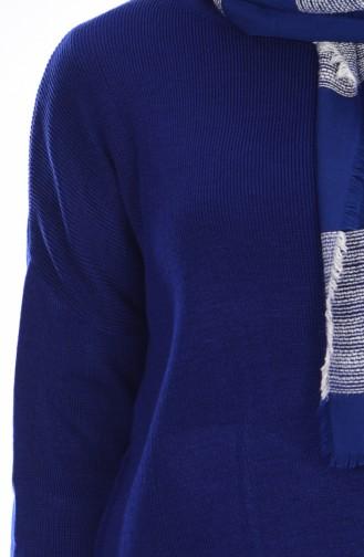 Ensemble Deux Pieces Pantalon Tricot 3832-07 Bleu Roi 3832-07