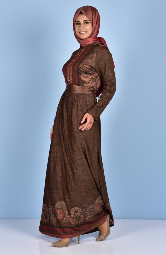 Decorated Dress 7466-04 Oil Green 7466-04