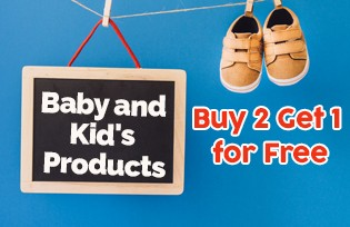 Buy 2 Get 1 for Free Baby and Kid´s Products