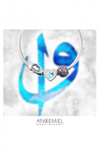Vav Elif Argent Charm Angemiel Bracelet 002766 002766