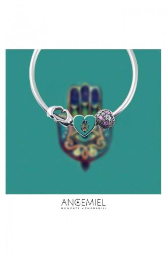 Main de Fatma Argent  Charm Angemiel Bracelet ALM002758 Coloré 002758