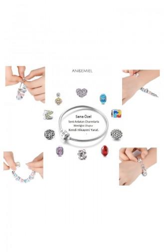Conception Spéciale Argent Charm Angemiel Bracelet ALM002764 Coloré 002764