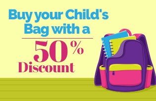 Buy your Child´s Bag with a 50% Discount