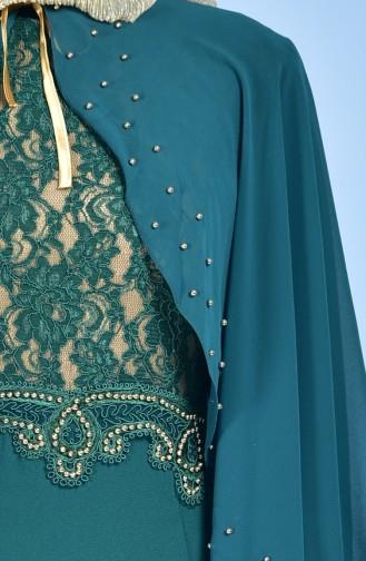 Habillé Hijab Vert emeraude 7006-03