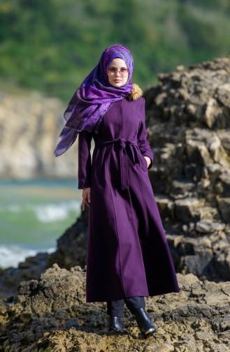 Fur Cachet Coat 1842-05 Purple 1842-05