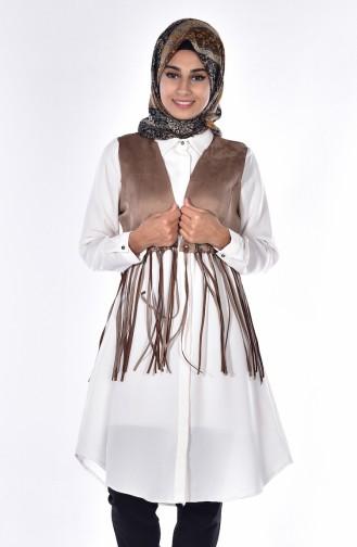 Yelek Tunik İkili Takım 0995-04 Camel Ekru