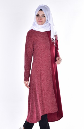 Claret red Tunic 0708-03