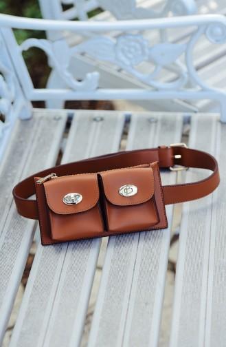 حقيبة للخصر باللون البني 1000-09