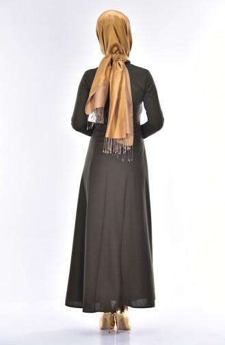 Robe Bordée 4401-01 Vert Khaki 4401-01
