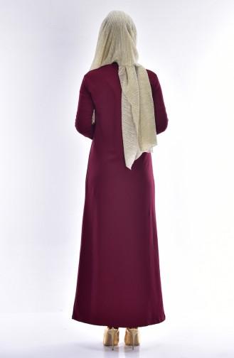 Robe avec Collier 2779-11 Cerise 2779-11