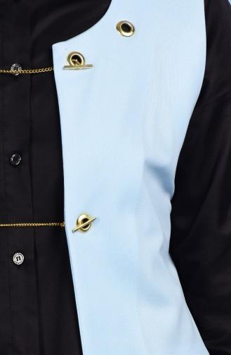 Weste mit Taschen Detail 4410-08 Baby Blau 4410-08