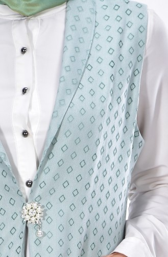Mint green Vest 0064-01