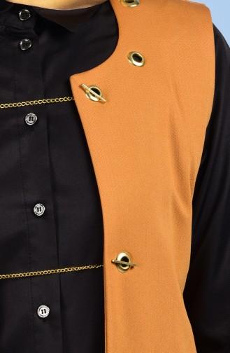 Weste mit Taschen Detail 4410-07 Senf 4410-07