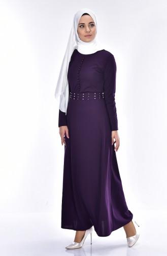 Dark Purple İslamitische Jurk 4411-01