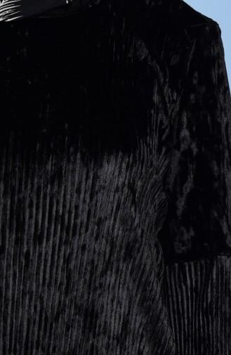 Tunique Velours Plissé 1012-02 Noir 1012-02