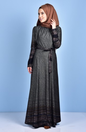 Kleid mit Gürtel 1300-03 Rauchgrau 1300-03