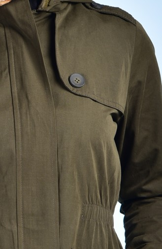 Dark Khaki Raincoat 7008-04