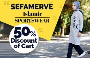 50% Off of Cart on Islamic Sportswear