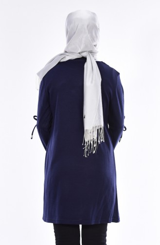 Sequin Detail Knitwear Sweater 0108-04 Navy Blue 0108-04