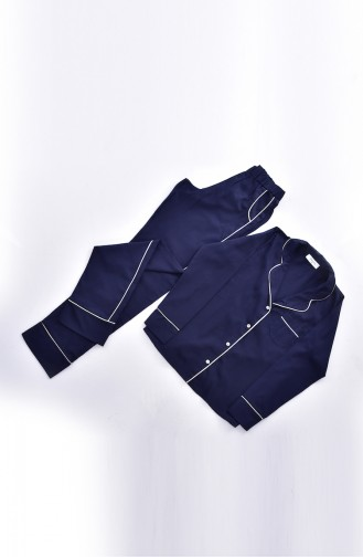 Dunkelblau Pyjama 2001-01