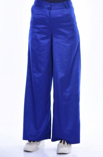 Pantalon Large Daim 3097-01 Bleu Roi 3097-01