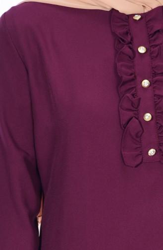 Tunique Detail Boutons 1133-04 Cerise 1133-04
