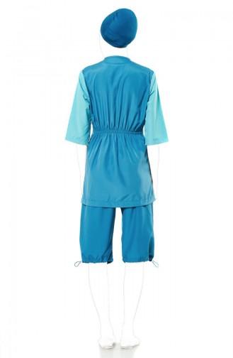 Half Sleeve Swimwear 1128-01 Petrol blue 1128-01