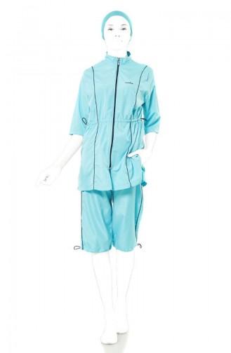 Half Sleeve Swimwear 1129-04 Mint Green 1129-04