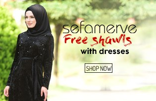 Sefamerve Dresses with Gift Shawl