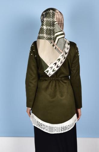 Perlen Jacke mit Schleier 4535-03 Khaki 4535-03