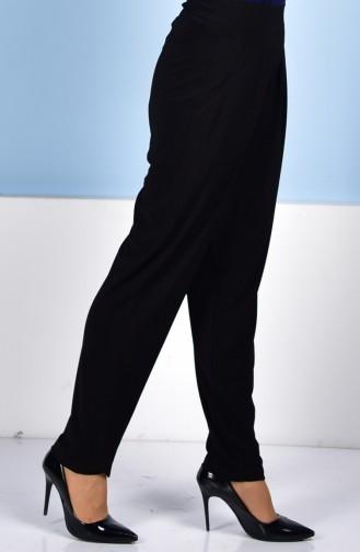 Yüksek Bel Pileli Pantolon 1014-01 Siyah 1014-01