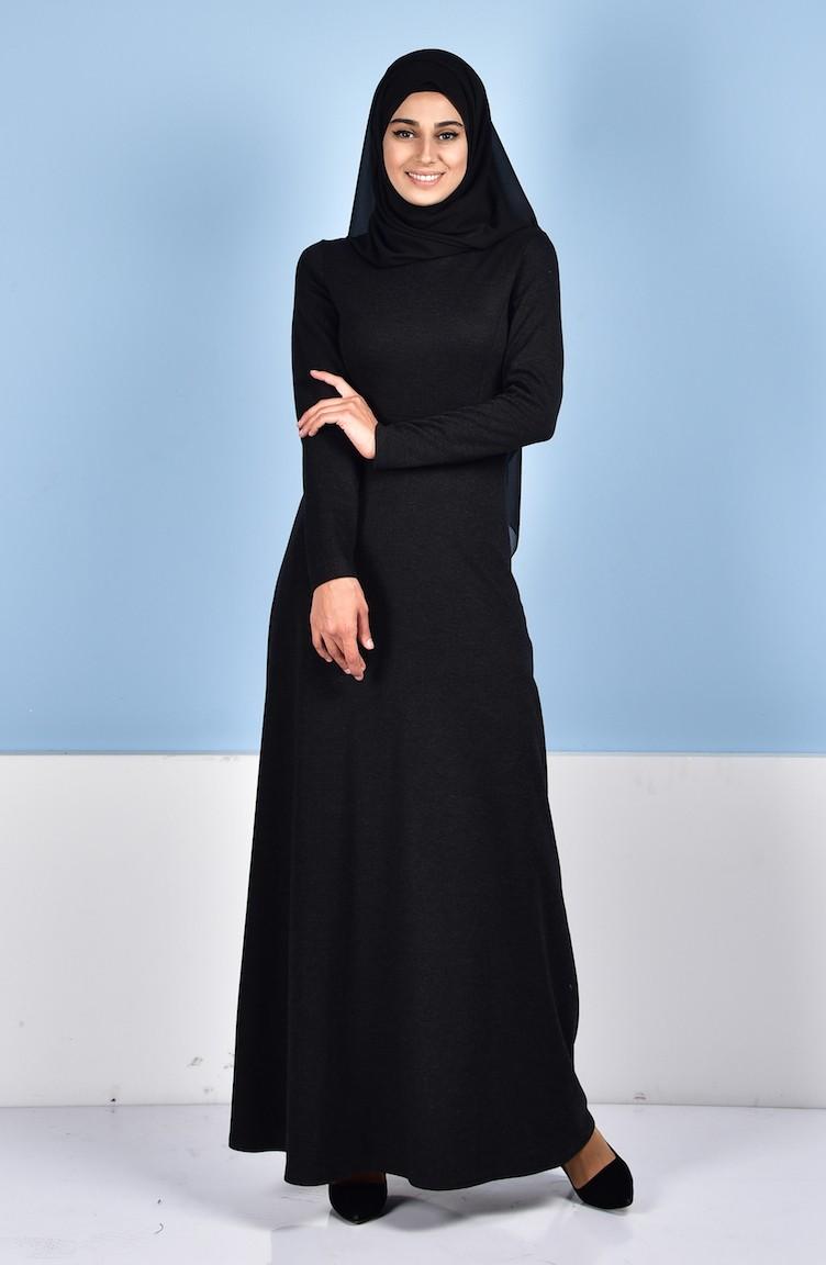 ea6aa006d4958c Black İslamitische Jurk 4004-02 ...