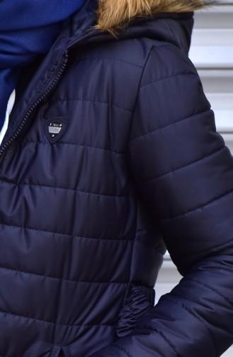 Belt Zippered Coats 1908-02 Navy 1908-02