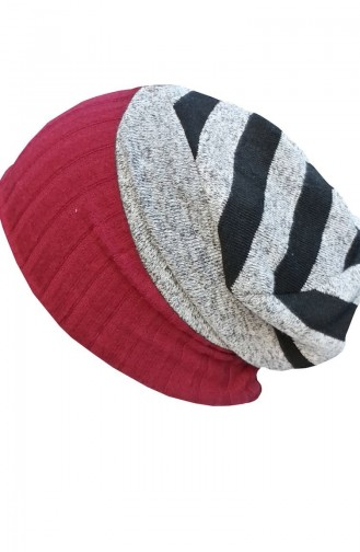 Claret red Hat and bandana models 128