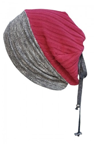 Hat-Beret NS129 Claret Red Gray 129
