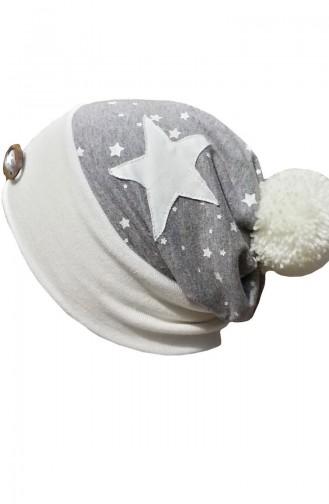 Şapka-Bere NS135 Ekru-Gri 135