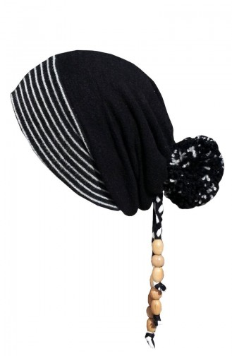 Hat-Beret NS141 Black Gray 141