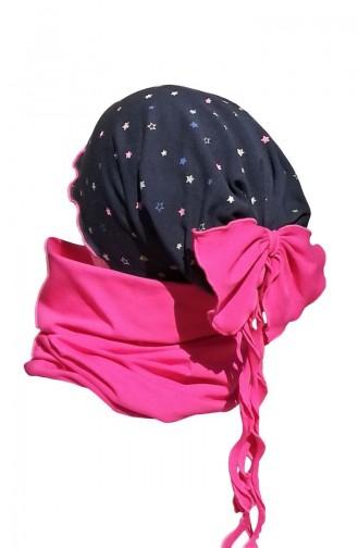 Şapka Boyunluk Takım NSB25 Lacivert Fuşya